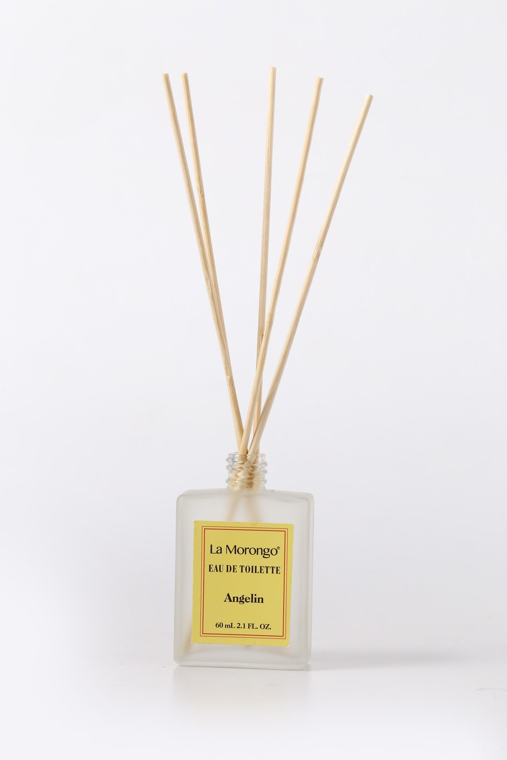 Angelin bamboo reed diffuser 黃標安潔琳醇厚木質地檀香茉莉精油香氛噴霧擴香竹 60mL