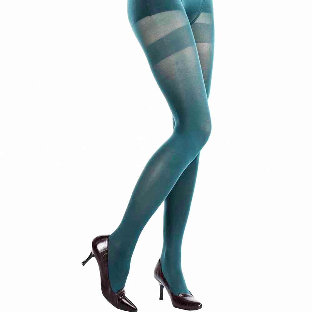 Macha Green teal Opaque Leggings 極致美肌 抹茶色褲襪 100丹