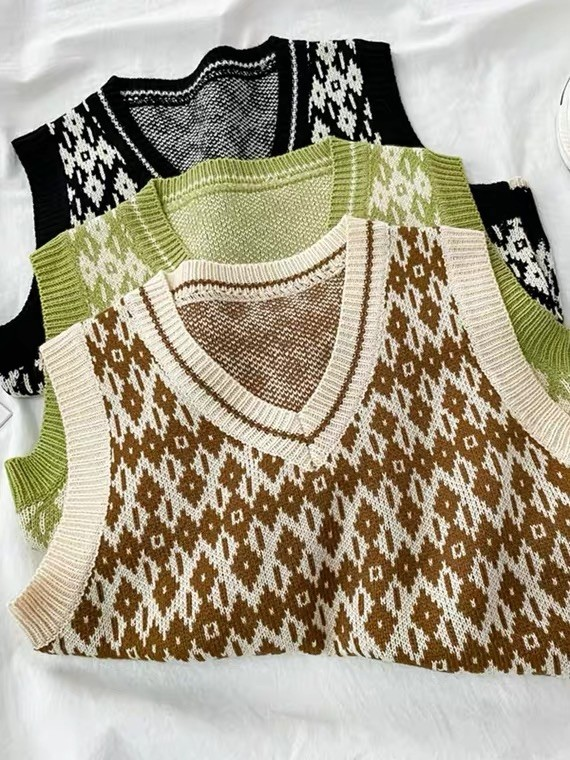秋冬装 毛衣 馬甲背心針織衣  女