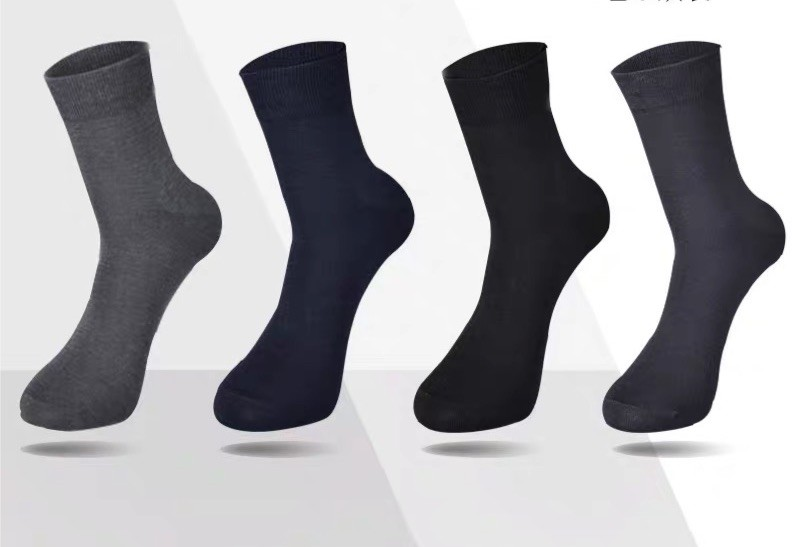 5雙裝 竹纖維 抗菌 防臭 春夏季 超薄款 男士 中筒 西裝襪 紳士 男商務 襪子