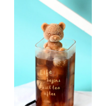 [一隻] 網紅 小熊 冰塊 模具 咖啡 飲料 奶茶 立體 小熊 冰格 矽膠 創意 模具