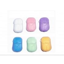 [六款香味隨機出貨] [批發100個以上可來信選香味] 紙肥皂 洗手肥皂 攜帶型 可愛 小巧 精油製造 寶寶也可使用 一次用一張 每盒20張 每天洗手 好開心 健康 生活 家用品 沐浴