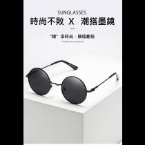 圓形 墨鏡  太陽眼鏡 開車 專用 偏光 駕駛鏡 復古 潮流 黑色 防紫外線 圓形墨鏡 男女通用  潮品 個性眼鏡