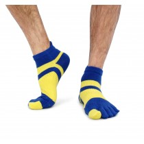 足弓 防臭 保護腳部 五指襪 亮麗彩色 男生尺寸 深藍