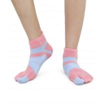 足弓 防臭 保護腳部 五指襪 亮麗彩色 女生尺寸 嫩粉