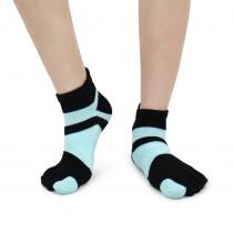 足弓 防臭 保護腳部 五指襪 亮麗彩色 女生尺寸 藍黑