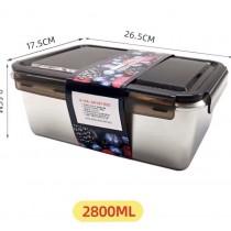 不鏽鋼便當盒 可烹煮 帶便當 保鮮 耐用 不漏 便捷 長方形 一體成型 安全健康 大號