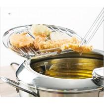 不鏽鋼 油炸鍋 家用 廚房 控溫