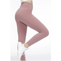 磨毛 裸感 瑜伽褲 提臀 高腰 運動褲 2021新款 夏季 薄九分 健身褲 女