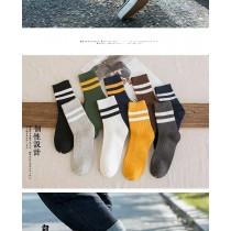 [5+1共六雙]襪子 男士 中筒 ins潮 全棉 夏季 長襪 純棉 短襪 日系 長筒 韓版 防臭襪  學生  休閒
