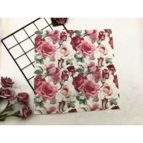 新款 玫瑰花 彩色 印花餐巾纸 婚慶 酒店方形纸巾餐墊[一包20張]