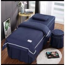[單床罩一件] 美容院  顏色任選 [粉 灰 深藍  紫  淺綠  淺紫 ]   床包 美容床 SPA 床包組 美容床罩 法蘭絨 床包 混棉 質感好