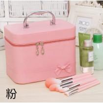 [新秘愛用] 韓國 化妝包 簡約 大方 可愛 便攜 大容量 收納 防水 手提 旅行 收納包 洗漱包 化妝品 化妝包 手提式 行李箱