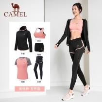 瑜珈服 運動套裝 女生 薄款 跑步衣 舒適 健身房 夏季 CAMEL