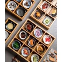 [日本懷石料理] 日式九宮格餐盤多格竹盒創意壽司盤小吃盤火鍋分格竹盤子