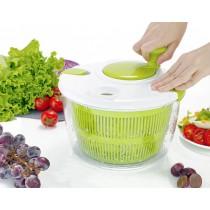 5公升 超大容量 綠色 沙拉蔬菜離心瀝水機 手動 家用商沙拉蔬菜脫水器甩乾機盆水果手動搖廚房甩水甩油籃洗菜神器