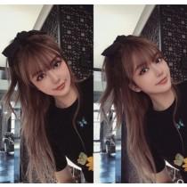 [很大一個] 韓國 東大門 款式 周揚青黑色大蝴蝶結髮夾後腦勺韓國網紅發卡頭飾髮飾發繩頭繩女