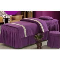[美容用品] [四件組] 美容床 按摩床 床罩 床單 床包 四件組 長180cm 寬60cm 高65cm