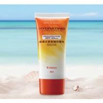 超潤水感身體防曬乳SPF43 高係數防曬阻擋UVA/UVB傷害,且清爽高效保濕,不黏膩。