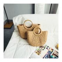 夏威夷  蜜月 竹編包 海邊 包包 籐編 手提包 編織 女包 手工 草包 度假 旅行 沙灘包 ins 草編包 女 出遊 外出 少女