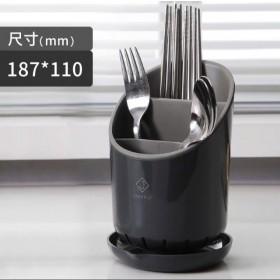 置物架 自動瀝水 多功能 放餐具 收纳盒 廚房 桶装 勺子  叉子 湯匙 刀子 筷子