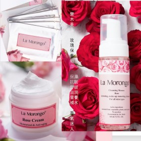 LM玫瑰面膜三件組 Rose Mask Three-piece Set, Blemish-reducing, Hydrating, Natural, Smooth, Soft and Refreshed